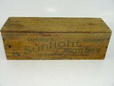 Rare VTG Cudahy's Sunlight Process Cheese 5 lb Wood Box Advertising Chicago IL