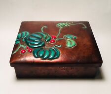 Antique Japanese Copper & Enamel Meiji Period Box Signed Ando Jubei c.1900