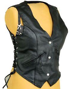 Mujer Cuero Cintura Abrigo Moto Retro Mujer Moto Camiseta