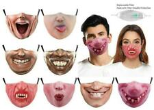 Halloween Funny Facemask Half Face Mouth Mark HipHop Cospaly Party Filter Mask0