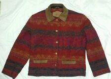 Vintage Women's Woolrich Thick Wool Jacket Southwest Size S Made in USA