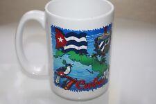 Large Cuban Map Flag Coffee Mug 16oz