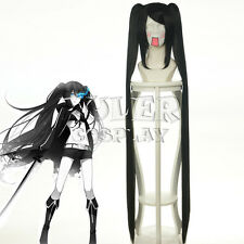 120CM Anime BLACK ROCK SHOOTER Blank Cosplay Wig +2 Clip on Ponytail COS-042B
