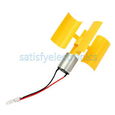 DC Micro Motor Small LED lights Vertical Axis Wind Turbine Generator Blades SF