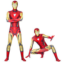 US Iron Man Cosplay Costume Jumpsuits Unisex Spandex Zentai Bodysuits Suit Gifts
