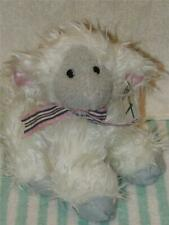 First & Main Plush White Shaggy Lamb Sheep bow Stuffed Animal With Tag