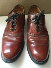 Hanover Oxford Dress Shoes Burgundy Leather Plain Toe Size 10 B
