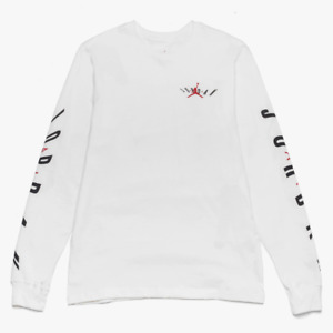 Jordan Air Swerve Long Sleeve Tee Shirt NEW CD5509 100 White Size Large