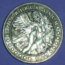 Dollar Size Hobo Halloween Sexy Angel Treasure Novelty Medallion