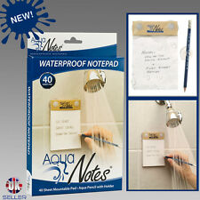 Waterproof Notepad For Shower Paper and Pencil Aqua Notes NEW Great Gift 2018