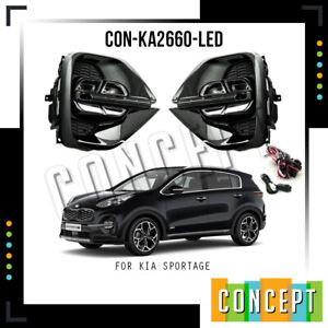 For 2019-2020-2021 Kia Sportage LED DRL Fog Lights Lamps with Assembly Set L&R