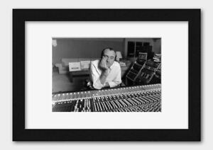 Phil Collins - At the Mixing Desk In His Home Studio Surrey UK 1989 Print