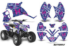 ATV Decal Graphic Kit Quad Wrap For Polaris Outlaw 90 110 All Years BFLY PINK