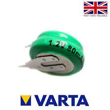 Varta 1/V80H / V80H Ni-MH 1.2V 80mAh Rechargeable 2 Pin Button Cell Battery