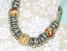 Statement Silver Necklace; Length Adjustable