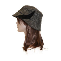 Women's Wool Hat Warm Grey Bucket Hat Stylish Cute Ladies Head Covering
