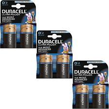 6 x DURACELL Ultra Potencia Pilas Alcalinas Tipo D Duralock - 1.5 V LR20 MX1300
