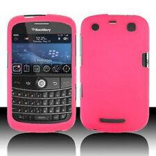 Rubber Hot Pink Rubberized HARD Case Phone Cover BlackBerry Curve 9350 9360 9370