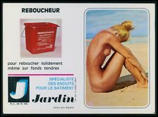 c art Calendar Pinup nude woman Pin Up European original 1960-1980 postcard size