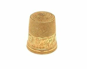 Finger Thimble 14k Yellow Gold Grip Cup