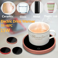 15W Electric Desktop Heater Milk Tea Coffee Hot Beverage Mug Warmer Cup Mat Pad