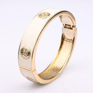 Ladies Bracelet Bangle Elfenbeinfarben Enamelled Designerschmuck Medal Design