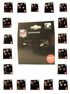 Post Stud Earring NFL PICK YOUR TEAM Logo Charm