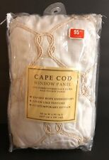 """Cape Cod Embroidered Faux Linen 95"""" Length x 50"""" Wide Rope Knot Curtain Panel"""