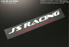 J'S RACING 14 sticker white S size JS-14-SWH