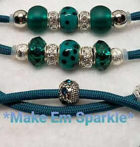 Teal Spotted/Silver Rhinestone Show Dog Lead/Leash Bling Snap Dog Show Lead 4 Ft