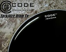 "CODE 20 "" Inch Enigma Black Bass Drum Outer Reso Head Drum Skin no hole."