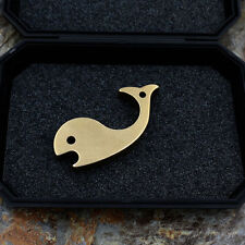 Blue Whale Brass Emergency Self defense EDC Tool Key Pendant Keychain W-06B