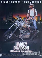HARLEY DAVIDSON AND THE MARLBORO MAN - MOTORCYCLE - ORIGINAL FRENCH POSTER