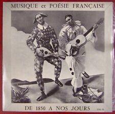 Musique et Poésie française 33 tours de 1850 à nos jours