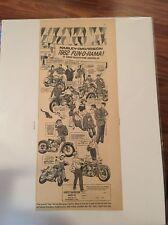 Early 1962 Harley Davidson Fun-o-Rama Magazine Ad