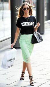 Zara Skirt Guipure Lace Pencil Size XS