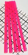 "5 Pcs 1/2"" x 12"" Clear Pink Fluorescent Acrylic Plexiglass Rod .5 Inch Diameter"