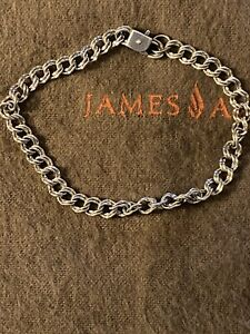 James Avery Sterling Silver Light Double Curb Charm Bracelet With Hidden Clasp