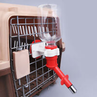 AU_ Cage Hanging Automatic Drinking Dispenser Water Bottle Dog Cat Pet Feeder