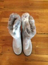 Carlo Pazolini Italian Leather Rabbit Fur Ankle Boots Slip On Women's Size 38 8