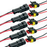 Waterproof 2Pins Way Car Male Female Electrical Connector Plug Wire Kit Set Acc