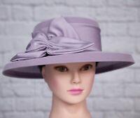 Jacques Vert Lilac Hat Satin Trim Wedding Mother Of Bride Groom Races Formal