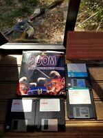 Doom 1994 The Incredible 3D Sequel Floppy disk PC Vintage Game W/ Back up Disks