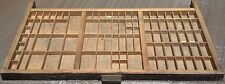 Best On Ebay By Far, Antique Hamilton Type Set Setters Drawer Wooden Tray read!