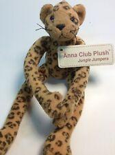 Anna Club Plush Soft Toy Cat Cheetah Long Legs Comforter + Tag Labels