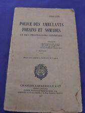 police des ambulants forains et nomades ,  1937  (cai50)
