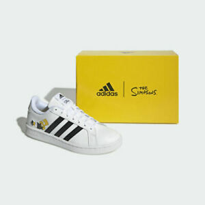 Adidas x The Simpsons Grand Court Sneakers Shoes H02555 Limited Edition Bart
