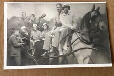 RPPC REAL PERSON POSTCARD 1920 - 1935 ARCADE PHOTO w/ HORSE and BEGGAR