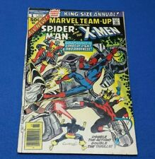Marvel team-up Annual 1 Spider-Man & X-Men 1976 early Wolverine key copper age