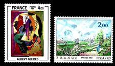 SELLOS FRANCIA 1981 2136/37 ARTE ALBERT GLEIZES /PISSARRO 2v.